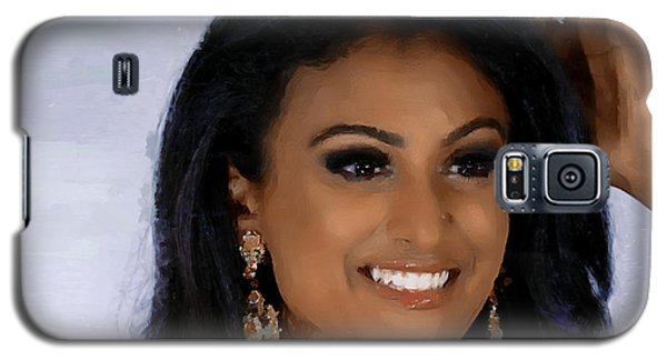 Galaxy S5 Case featuring the painting Miss America 2014 - Nina Davuluri by Wayne Pascall