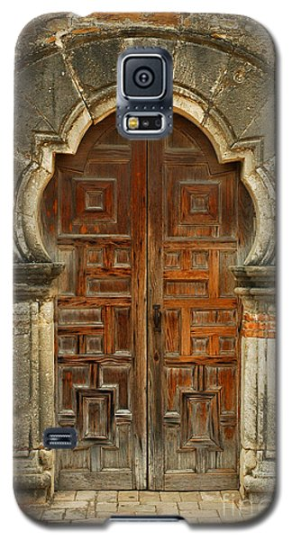 Galaxy S5 Case featuring the photograph Mission Espada Door  by Olivia Hardwicke