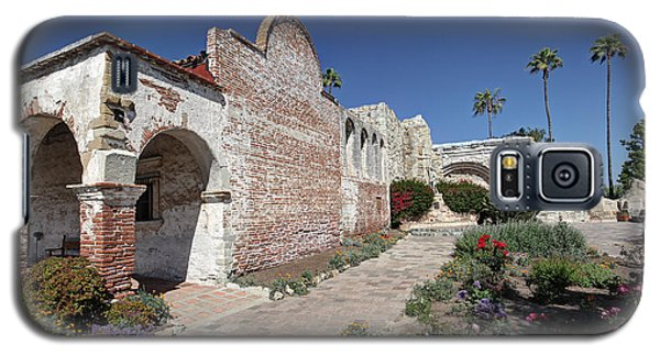 Galaxy S5 Case featuring the photograph Mission Plaza Capistrano by Martin Konopacki