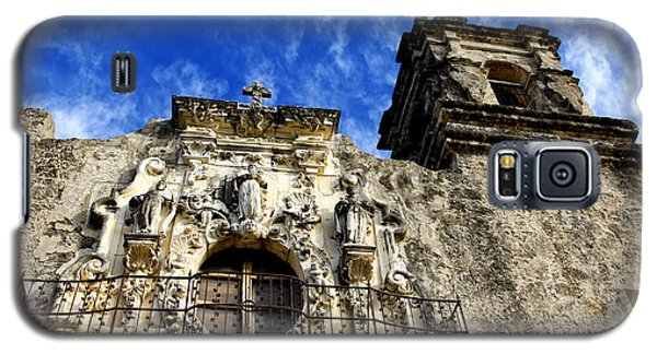 Galaxy S5 Case featuring the photograph Mission San Jose Balcony And Tower by Lincoln Rogers
