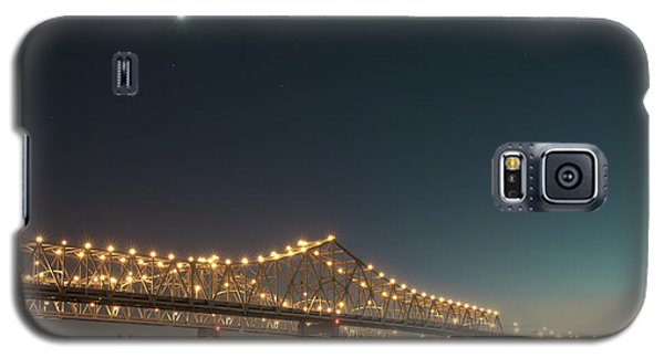 Galaxy S5 Case featuring the photograph Mississippi Bridge Moonlight by Ray Devlin