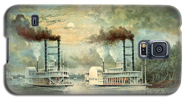 Mississippi Steamboat Race 1859 Galaxy S5 Case