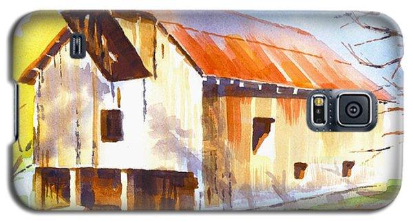 Missouri Barn In Watercolor Galaxy S5 Case