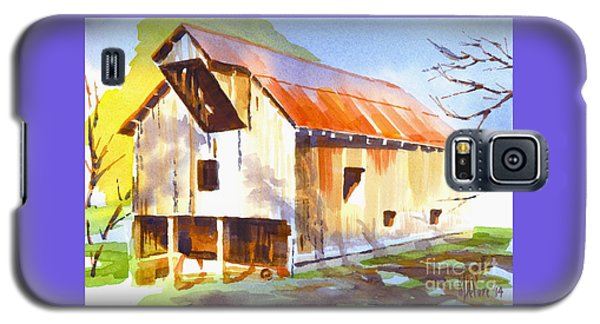 Missouri Barn In Watercolor Galaxy S5 Case