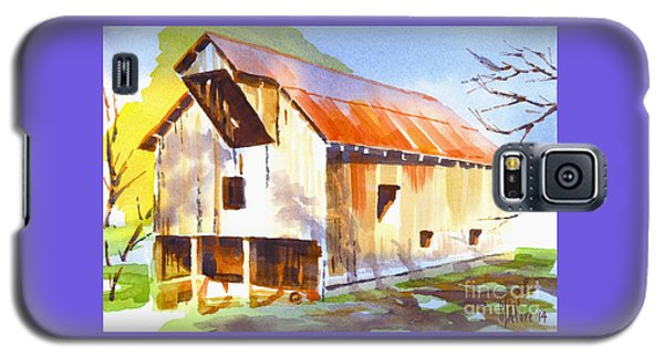 Missouri Barn In Watercolor Galaxy S5 Case by Kip DeVore