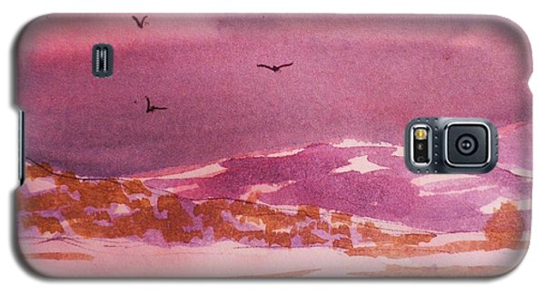 Galaxy S5 Case featuring the painting Mist And Snow by Suzanne McKay