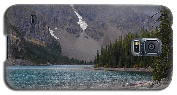 Mist Over Lake Moraine Galaxy S5 Case