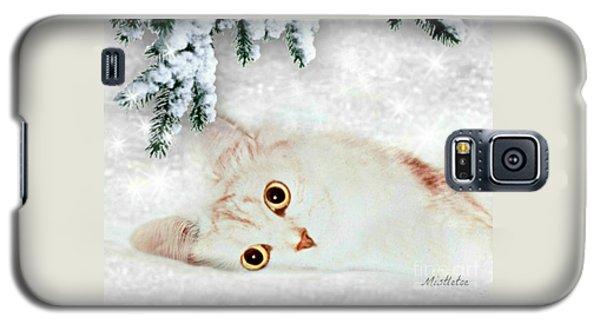 Mistletoe In The Snow Galaxy S5 Case by Morag Bates