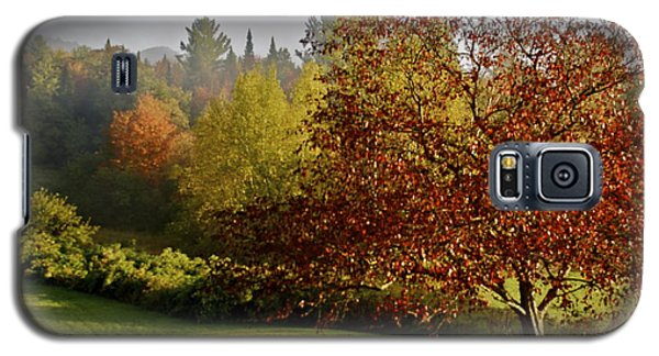 Galaxy S5 Case featuring the photograph Misty Autumn Morning by Alice Mainville