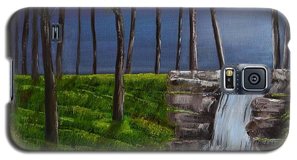 Galaxy S5 Case featuring the painting Serenity Falls by Melvin Turner