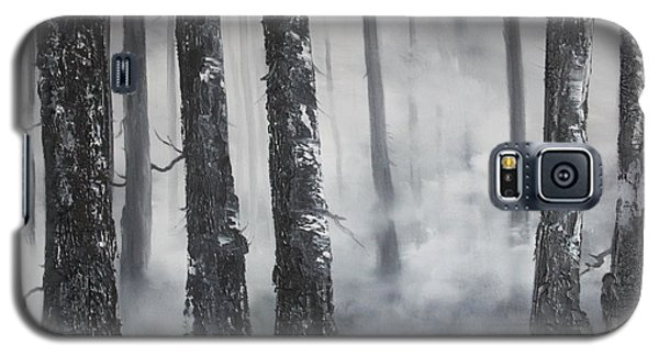 Galaxy S5 Case featuring the painting Misty Forest by Jean Walker