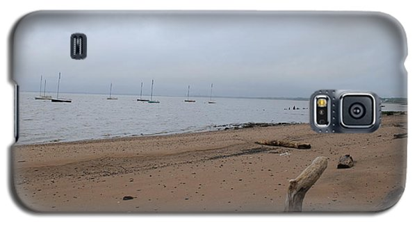 Galaxy S5 Case featuring the photograph Misty Harbor by David Jackson