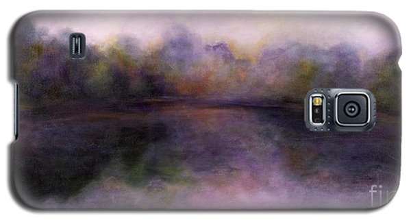 Galaxy S5 Case featuring the painting Misty Morning by Alison Caltrider
