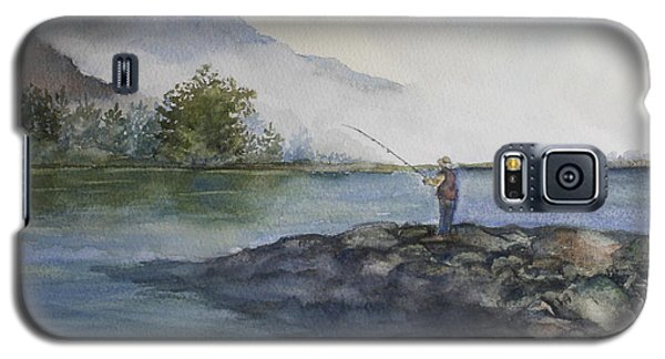 Galaxy S5 Case featuring the painting Misty Morning by Jan Cipolla