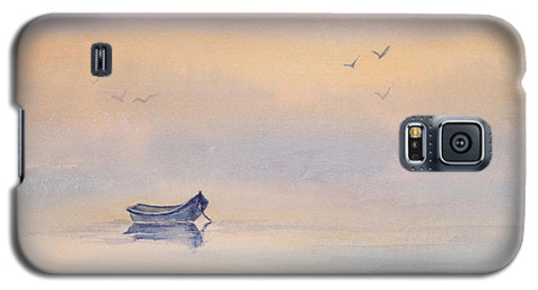Misty Morning Peace Watercolor Painting Galaxy S5 Case