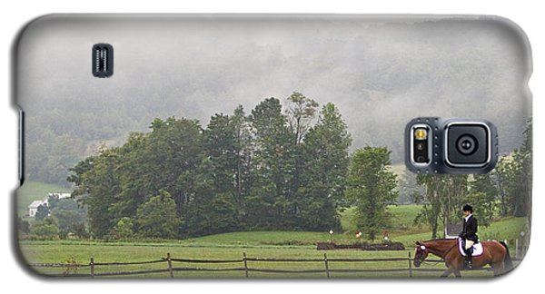 Galaxy S5 Case featuring the photograph Misty Morning Ride by Joan Davis