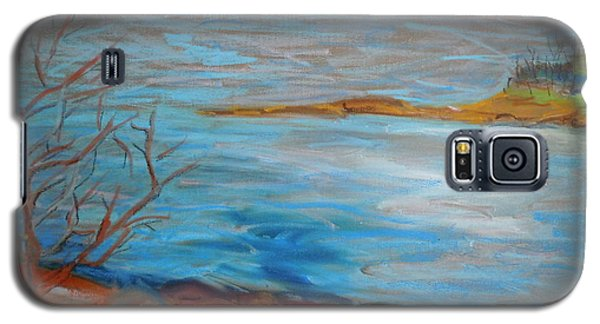 Galaxy S5 Case featuring the painting Misty Surry by Francine Frank