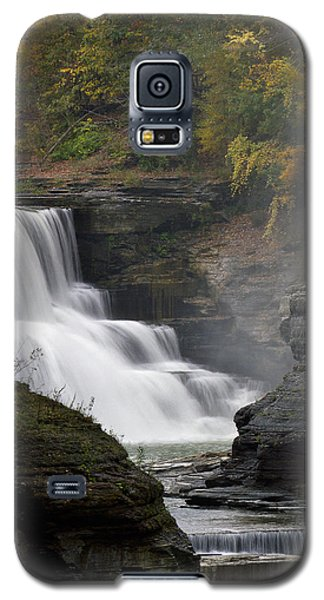 Galaxy S5 Case featuring the photograph Misty Waterfalls by Timothy McIntyre