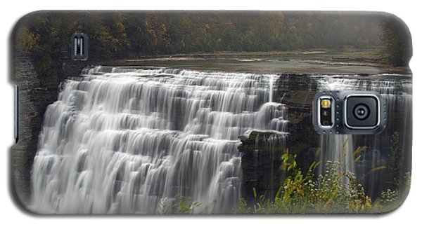 Galaxy S5 Case featuring the photograph Misty Waterfallsii by Timothy McIntyre