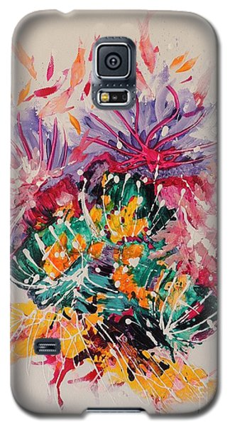 Galaxy S5 Case featuring the painting Mixed Coral by Lyn Olsen