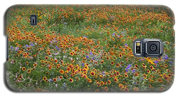 Mixed Wildflowers Blowing Galaxy S5 Case