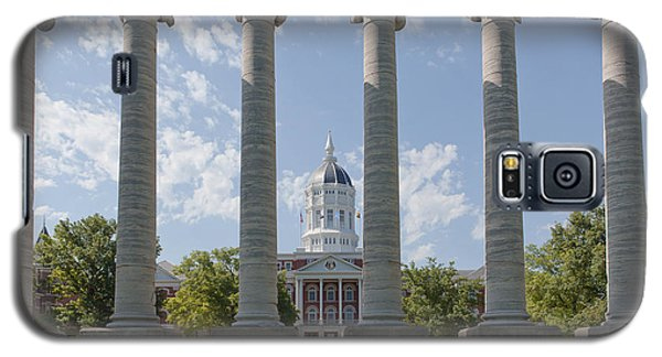 Mizzou Jesse Hall And Columns Galaxy S5 Case by Kay Pickens