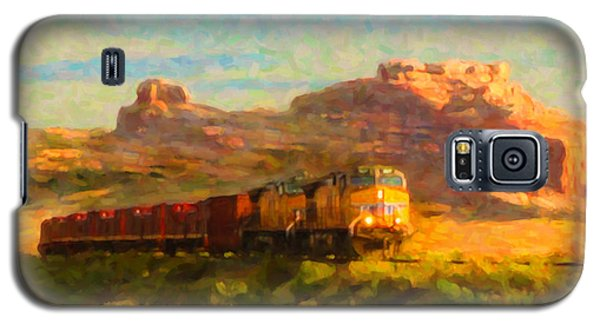 Galaxy S5 Case featuring the digital art Moab Morning by Chuck Mountain