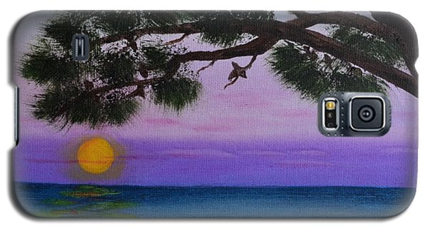 Galaxy S5 Case featuring the painting Mobile Bay Sunset by Melvin Turner