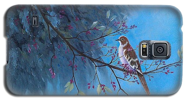 Galaxy S5 Case featuring the painting Mockingbird Happiness by Suzanne Theis