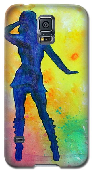 Mod Girl Female Silhouette Abstract Galaxy S5 Case