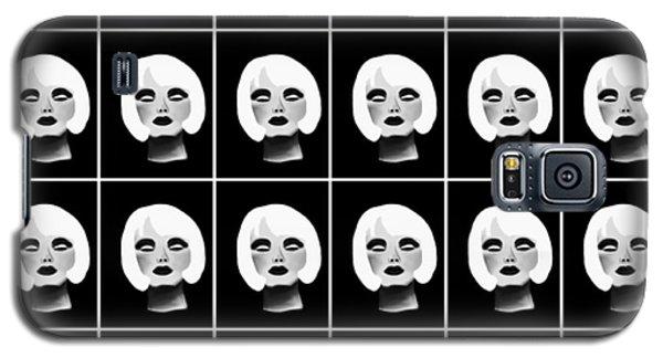 Blonde Beauty Pattern Galaxy S5 Case