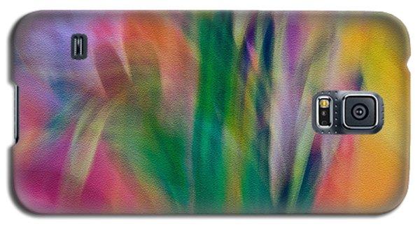 Galaxy S5 Case featuring the photograph Modern Art Flower Garden by Susan Leggett