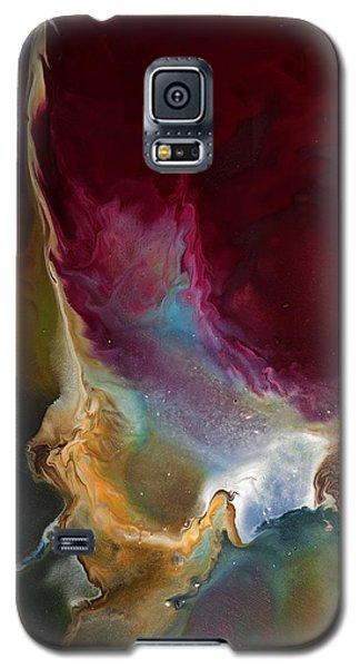 Modern Colorful Earth Tones Abstract Art-achieve The Goal By Kredart Galaxy S5 Case