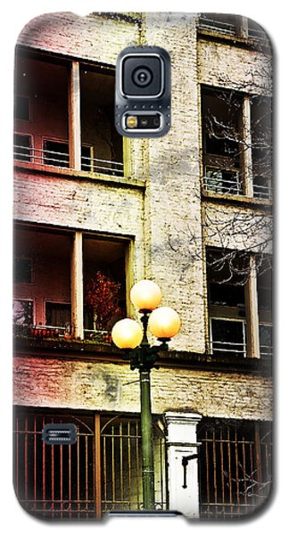 Galaxy S5 Case featuring the digital art Modern Grungy City Building  by Valerie Garner