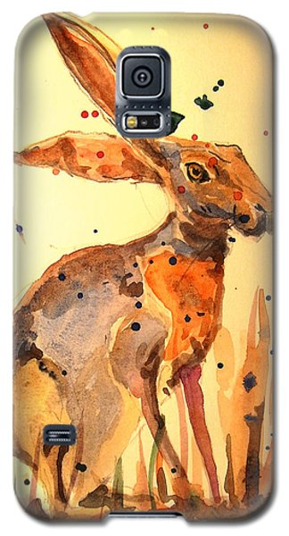 Rabbit Galaxy S5 Case - Modern Hare by Juan  Bosco
