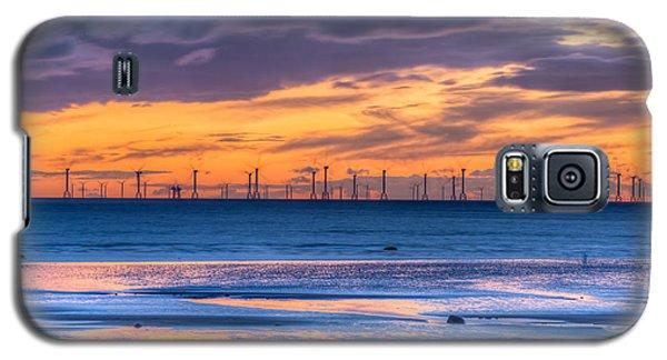 Modern Ocean Windmills At Sunset Lowtide Galaxy S5 Case