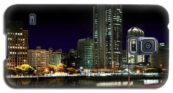 Modern Sao Paulo Skyline Near Brooklin District And Stayed Bridge Galaxy S5 Case