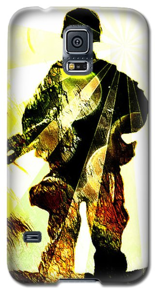 Galaxy S5 Case featuring the digital art Modern Soldier by Andrea Barbieri