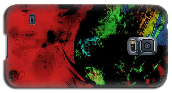 Galaxy S5 Case featuring the mixed media Modern Squid by Ally  White