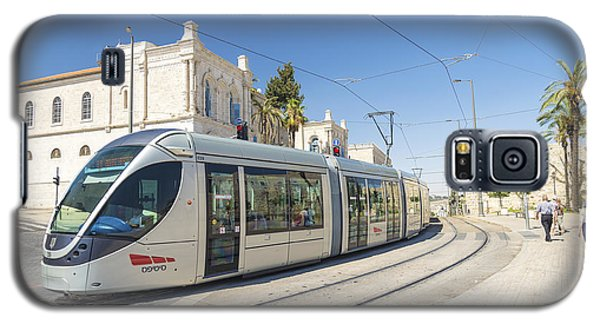Modern Tram In Central Jerusalem Israel Galaxy S5 Case