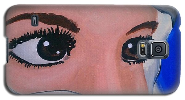 Galaxy S5 Case featuring the painting Modesty by Marisela Mungia