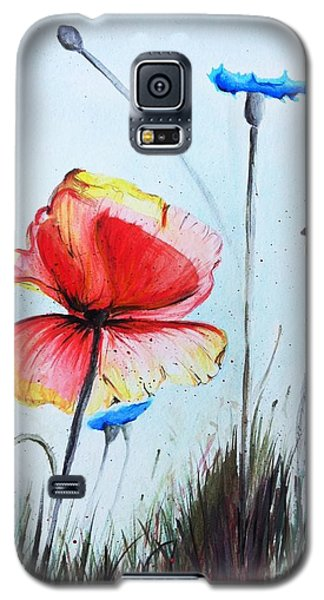 Mohnwiese Galaxy S5 Case by Katharina Filus