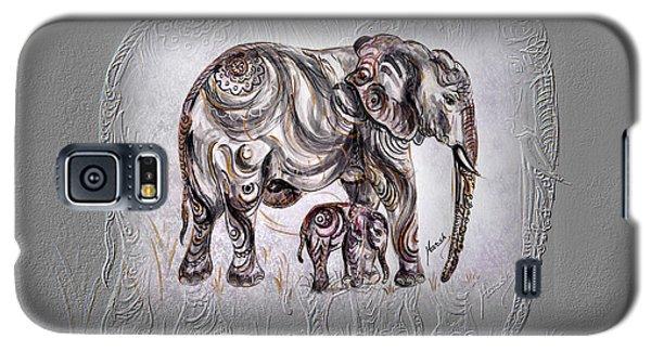 Mom Elephant Galaxy S5 Case