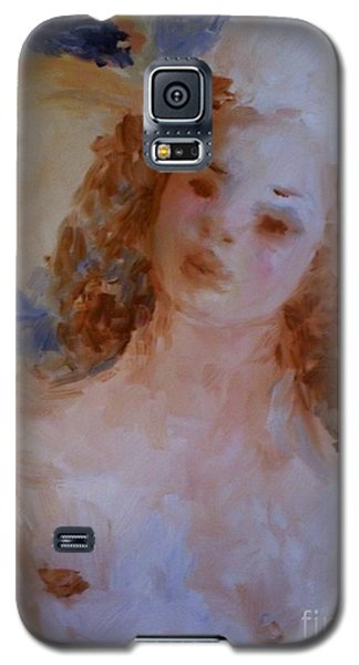 Galaxy S5 Case featuring the painting Mom Near Jupiter by Laurie L