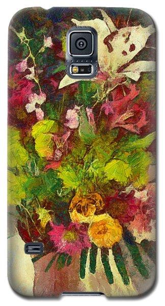 Galaxy S5 Case featuring the digital art Mom's Flowers by Spyder Webb