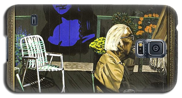 Mona Lisa On The Patio Galaxy S5 Case by Herb Van de Eau