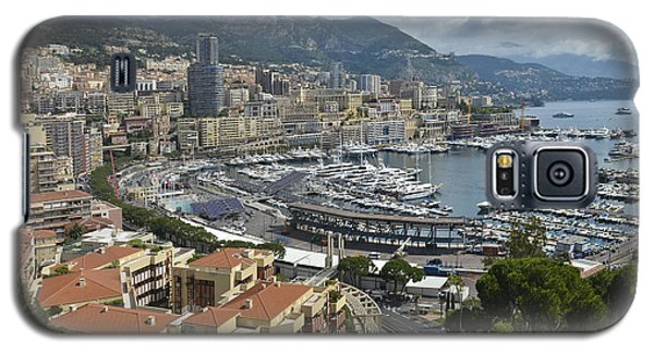 Galaxy S5 Case featuring the photograph Monaco Harbor by Allen Sheffield