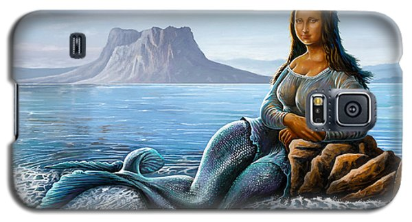 Galaxy S5 Case featuring the digital art Monalisa Mermaid by Anthony Mwangi