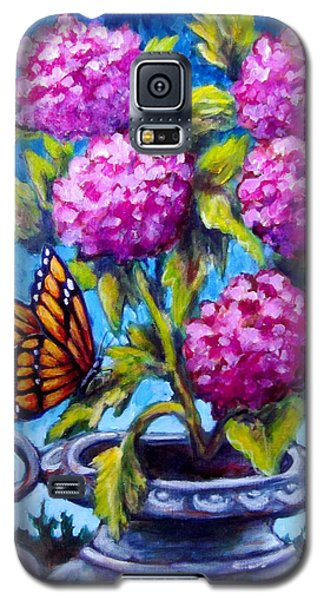 Monarch And Flowers Galaxy S5 Case