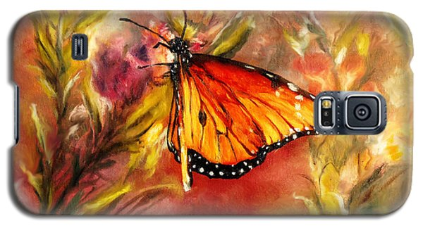 Galaxy S5 Case featuring the painting Monarch Beauty by Karen Kennedy Chatham
